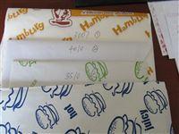 各种汉堡片包装纸